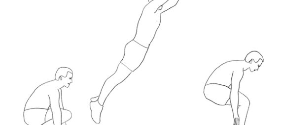 Упражнение прыжки лягушкой